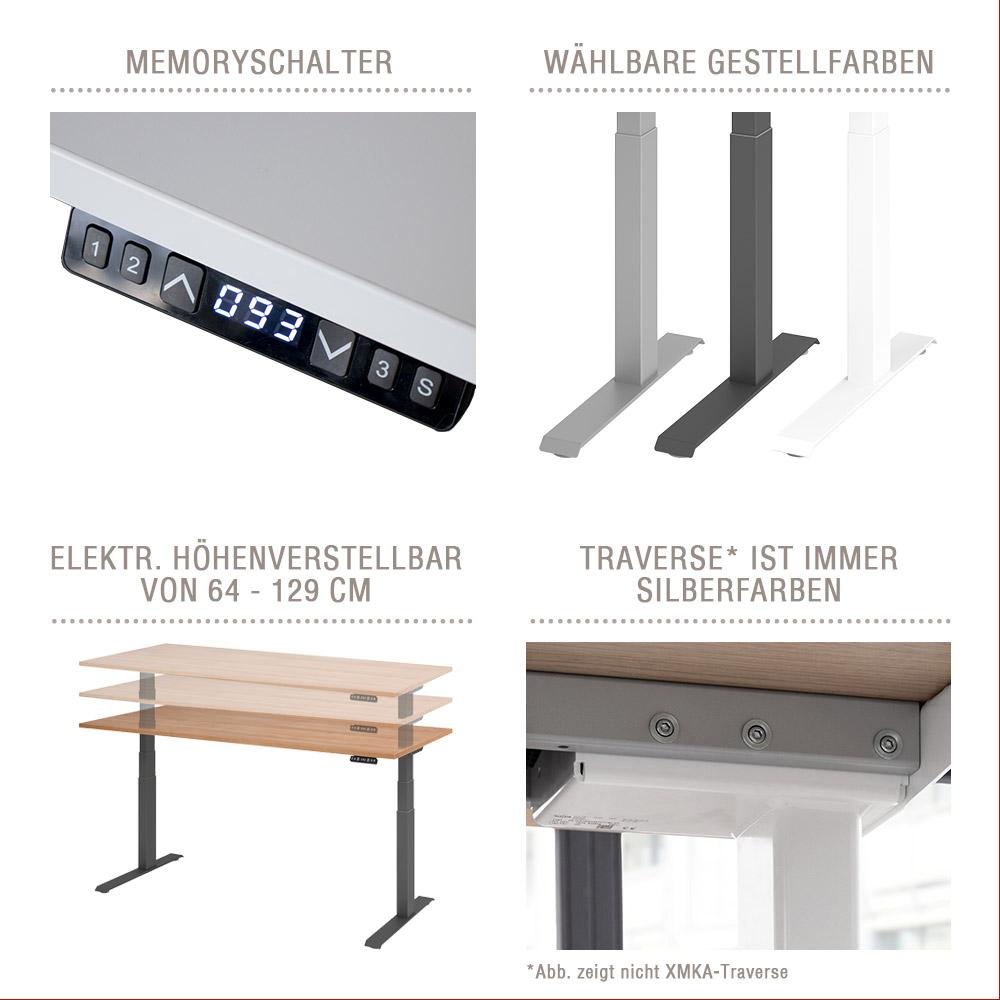 Hammerbacher Schreibtisch Elektrisch Höhenverstellbar 2021