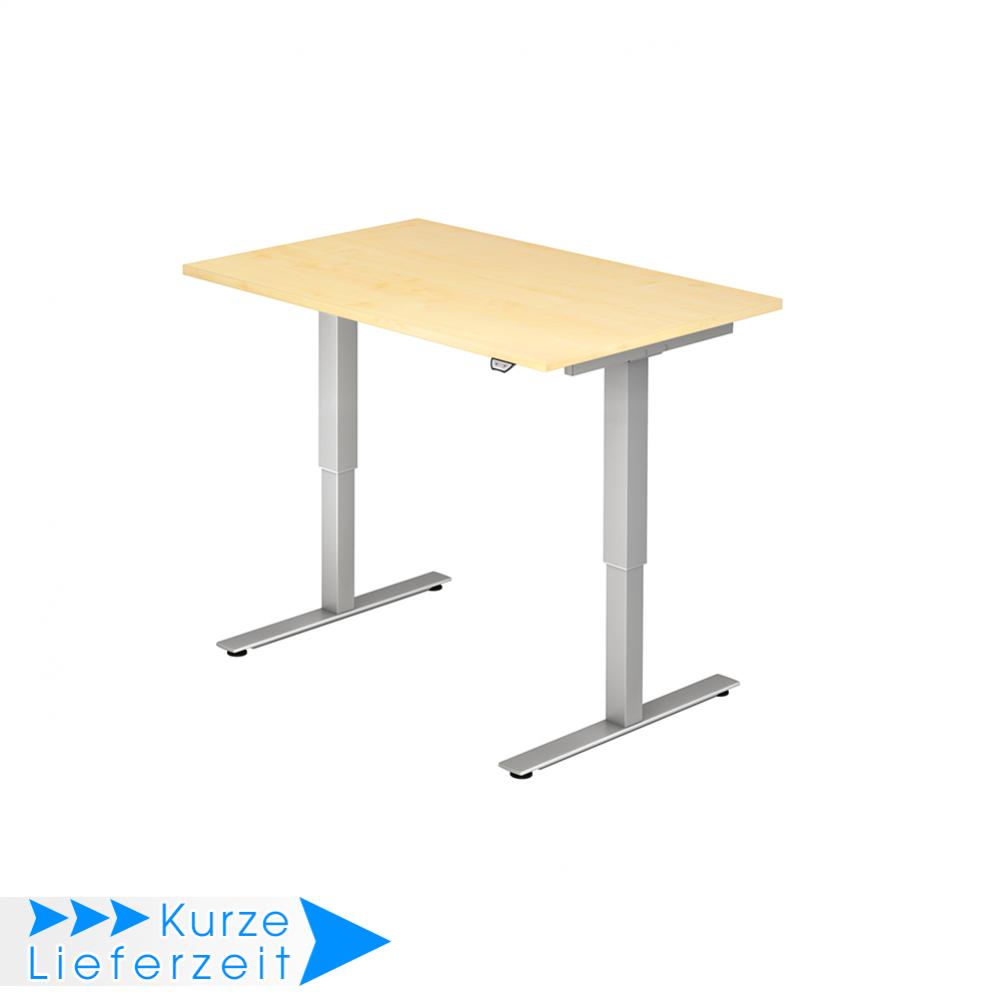 Hammerbacher elektrisch höhenverstellbarer Schreibtisch Serie XMST / Größe:  120x80 cm / Dekor: Ahorn